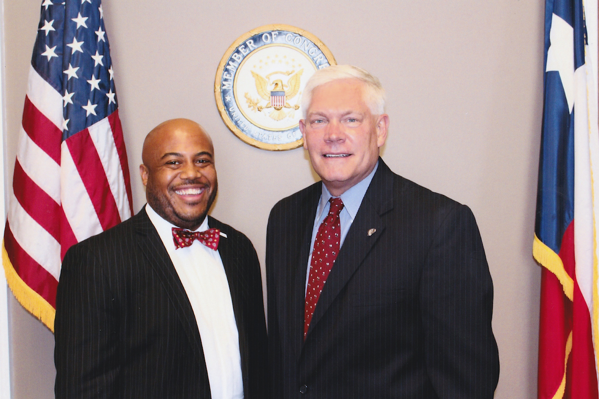 Adrian Killebrew and Congressman Pete Sessions