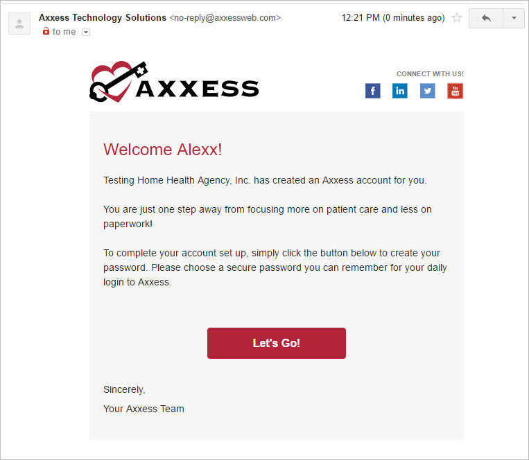 Axxess access email