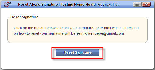 Reset Signature Approval