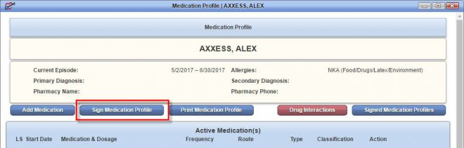 Medication Profile