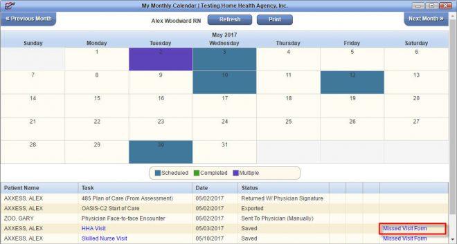 My Monthly Calendar