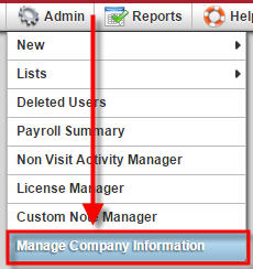Manage Company Information