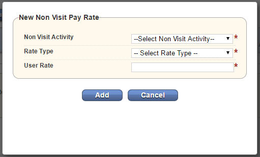 New Non Visit Pay Rate