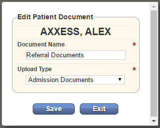 Edit Patient Documents