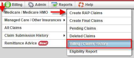 Billing / Claims History