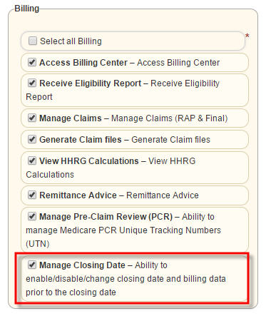 Billing User Preferences