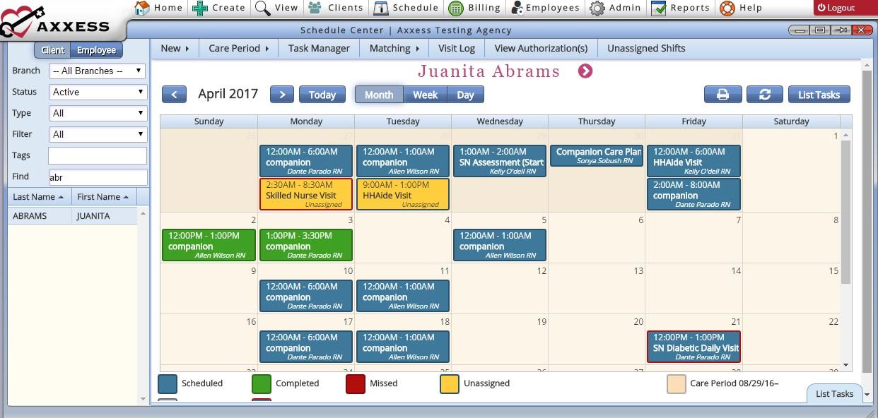 Schedule Center Overview – Help Center
